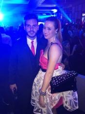 Elie Banks junto a Rafa Gabeiras